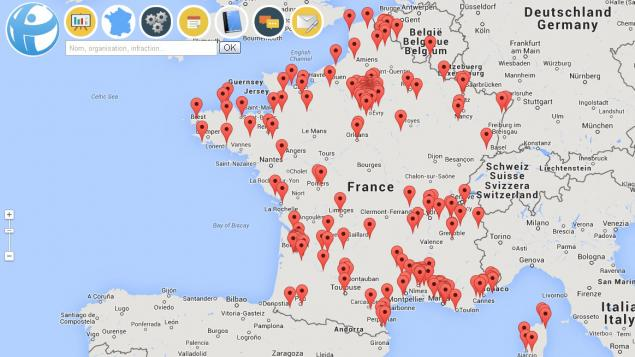 Carte de la corruption en France