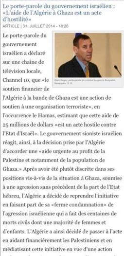 Alors que l'Algérie doit de l'argent à la France