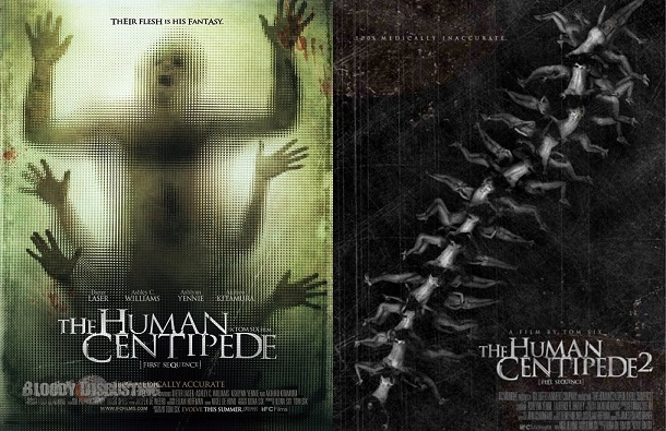 Affiches The Human Centipede.