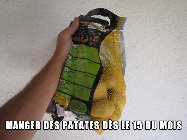 Manger des patates dès le 15 du mois