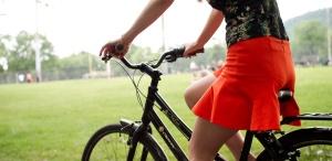Promenade à vélo par beau temps.