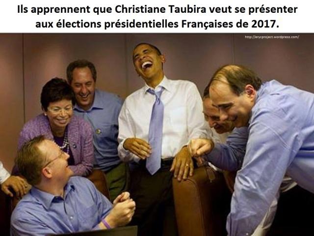Ils apprenent que Christiane Taubira  se présente en 2017
