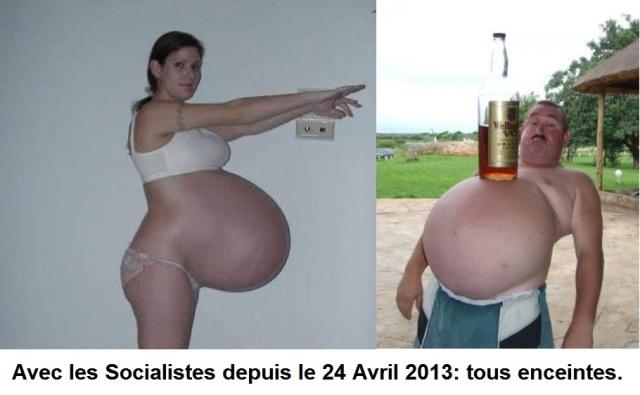 Avec les Socialistes depuis le 24 Avril 2013: tous enceintes !